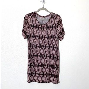 Logo Lori Goldstein large tunic purple ikat H